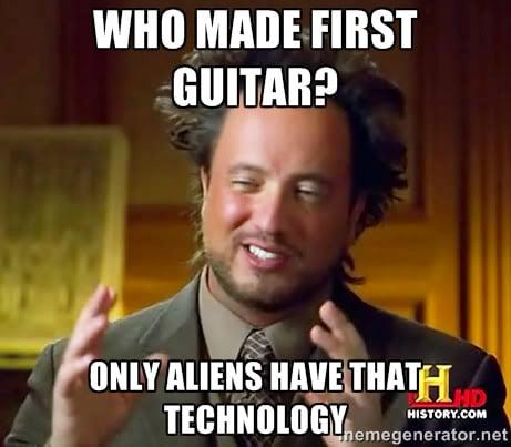 giorgio tsoukalos guitar meme