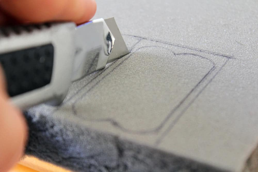 cutting foam around pickups tutorial