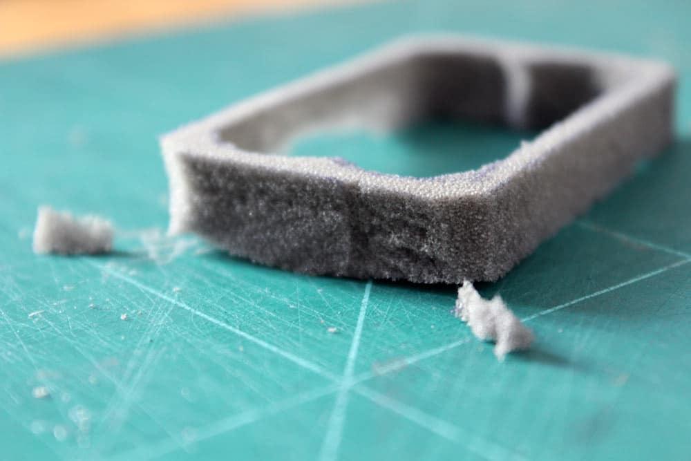 cutting foam around pickups tutorial joe satriani mike manning gary brawer ibanez js