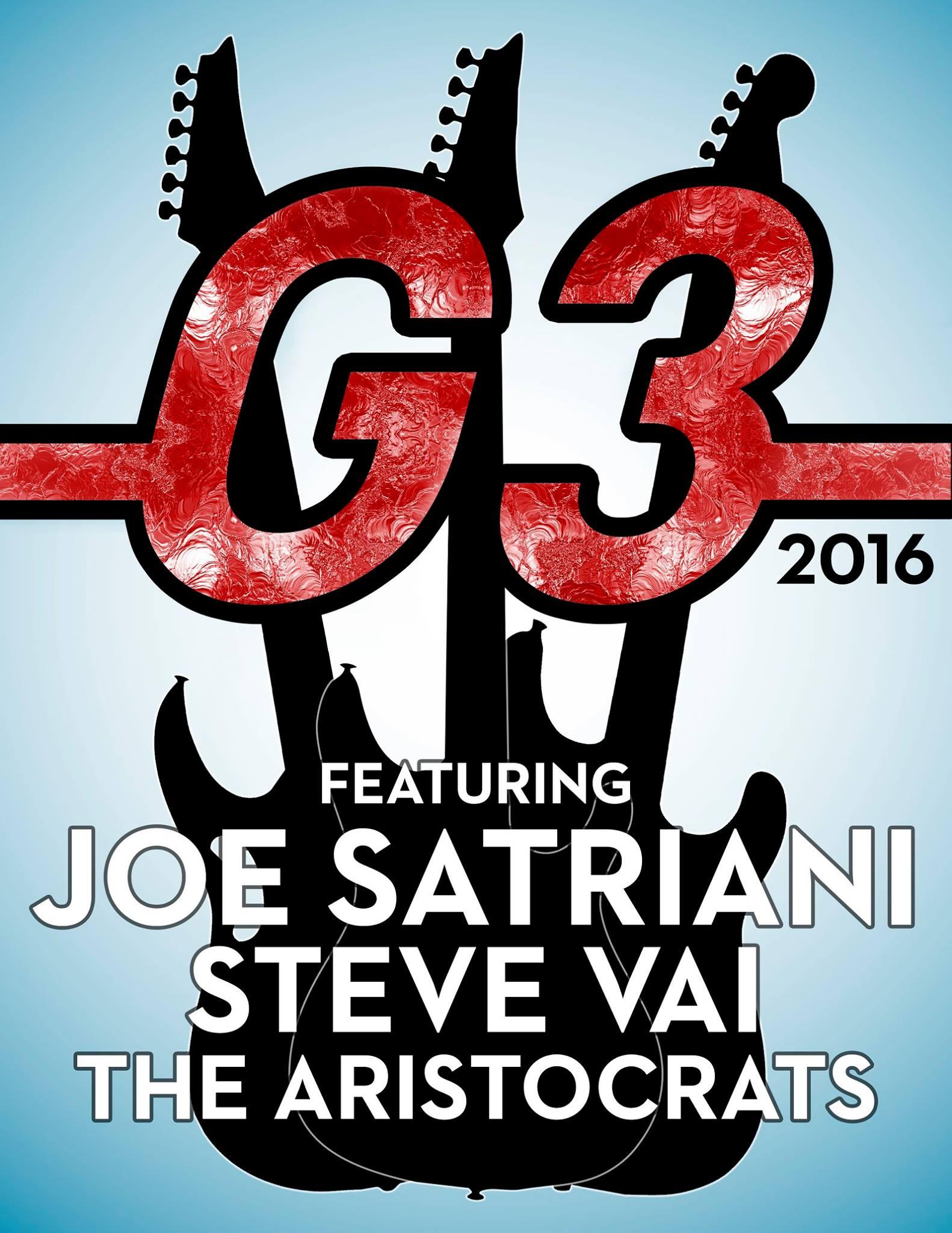 g3 2016 joe satriani steve vai guthrie govan the aristocrats guitar shred electric poster