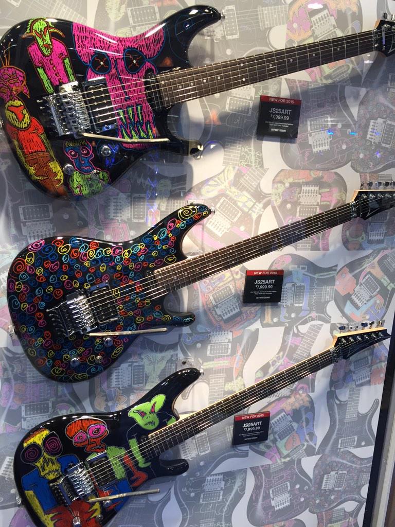 Ibanez JS25ART signature Joe Satriani NAMM