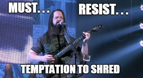john petrucci shred temptation