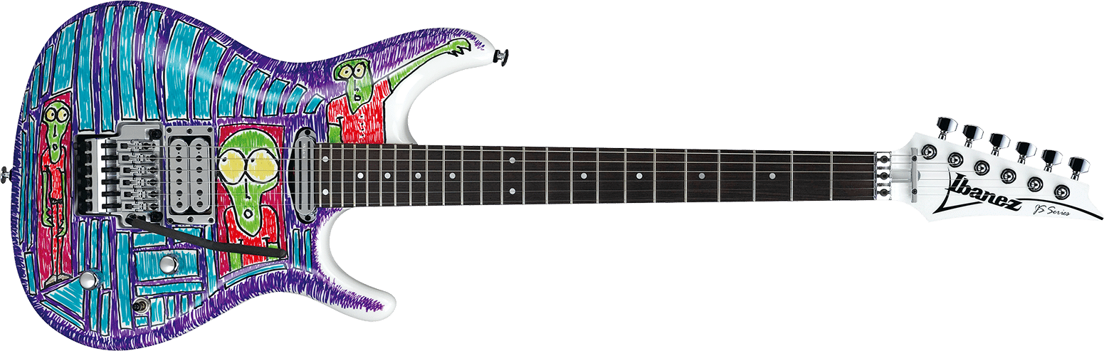 ibanez js 2art js2art anniversary custom drawing joe satriani